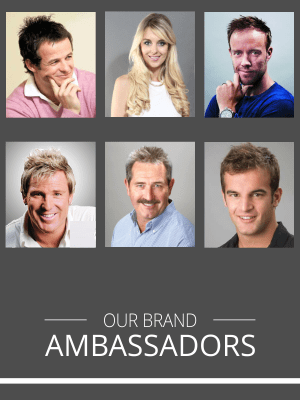 Hair loss treatment brand ambassadors