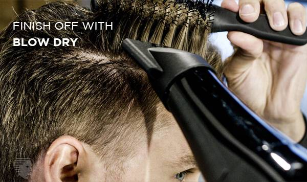 finish off with blow dry